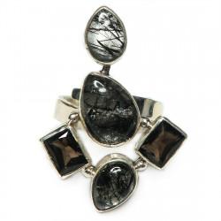 Кольцо с рутиловым кварцем 1606-nr