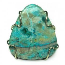 Кольцо с хризоколлой 1612-nr