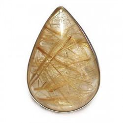 Кольцо с рутиловым кварцем (волосатик) 1601-nr