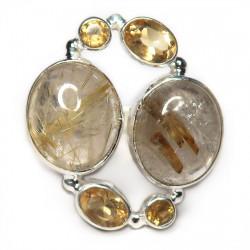 Кольцо с рутиловым кварцем (волосатик) 1609-nr
