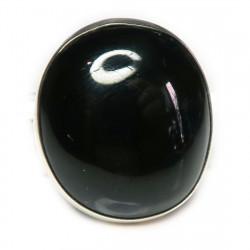 Кольцо с черным турмалином 121-tur