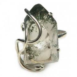 Кольцо с хлоритом в кварце 1588-nr