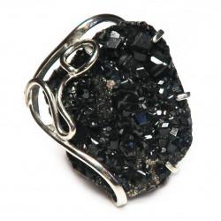 Кольцо с меланитом 1581-nr