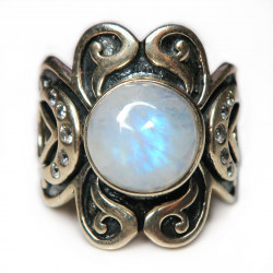 Кольцо с лунным камнем 1302-nr