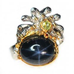 Кольцо с звездчатым сапфиром 1821-er