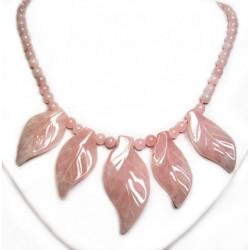 Бусы из розового кварца 538-no