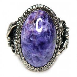 Кольцо с чароитом 1522-nr