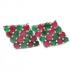 Серьги с рубином, бериллом 373-es