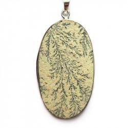 Кулон с дендритовым камнем (дендритом псиломелановым) 769-nn