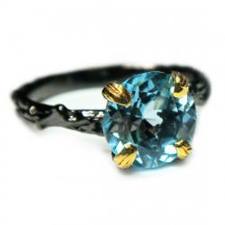 Кольцо с голубым топазом 1722-er