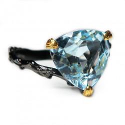 Кольцо с голубым топазом 1723-er