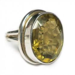 Кольцо с лимонным цитрином 020-er