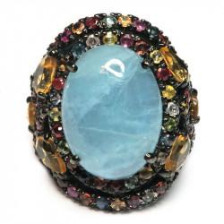 Кольцо с аквамарином 1214-er