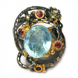 Кольцо с аквамарином 1386-er