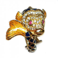 Кольцо Рыбка с эмалью 429-er