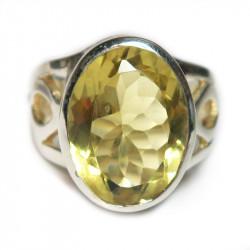 Кольцо с лимонным цитрином 623-er