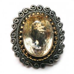 Кольцо с цитрином 1029-er