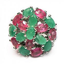 Кольцо с рубином и бериллом 103-er