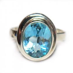 Кольцо с голубым топазом 1035-er
