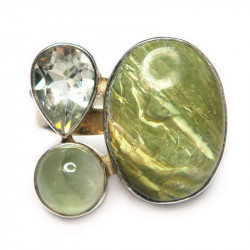Кольцо с варисцитом 1053-nr