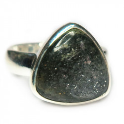 Кольцо с черным авантюрином 1169-nr