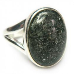 Кольцо с черным авантюрином 1170-nr