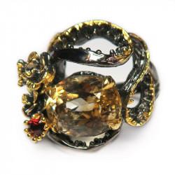 Кольцо с цитрином 1301-er