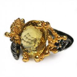 Кольцо с цитрином 1302-er