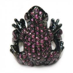 Кольцо Лягушка с рубином 1309-er