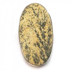 Кольцо с дендритовым камнем (дендритом псиломелановым) 1337-nr