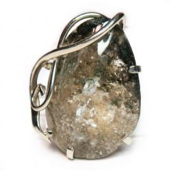 Кольцо с эпидотом в кварце 1402-nr