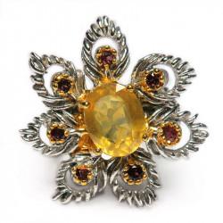 Кольцо с желтым сапфиром 1468-er