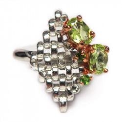 Кольцо с хризолитом 1473-er