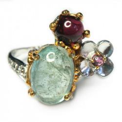 Кольцо с аквамарином 1536-er