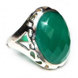 Кольцо с зеленым ониксом 322-nr
