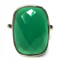 Кольцо с зеленым ониксом 324-nr