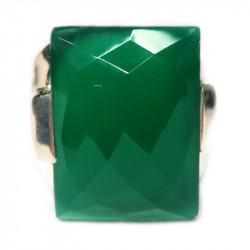 Кольцо с зеленым ониксом 325-nr