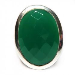 Кольцо с зеленым ониксом 693-nr