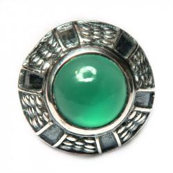 Кольцо с зеленым ониксом 729-nr