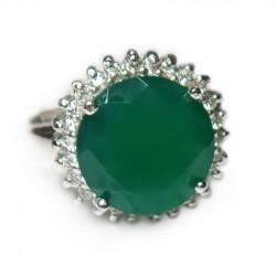 Кольцо с зеленым ониксом 743-nr