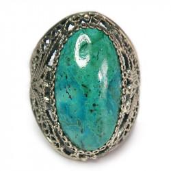 Кольцо с хризоколлой 852-nr