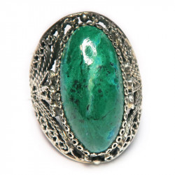 Кольцо с хризоколлой 855-nr