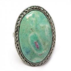 Кольцо с рубином в фуксите 985-nr