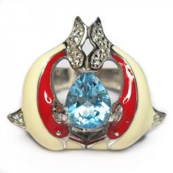 Кольцо с голубым топазом 997-er