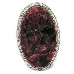 Кольцо с эвдиалитом 1025-nr