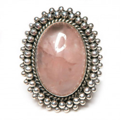 Кольцо с розовым кварцем 1050-nr