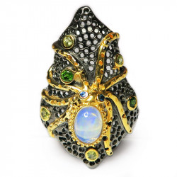 Кольцо с белым опалом 1164-er