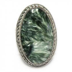Кольцо с серафинитом (клинохлор) 1175-nr