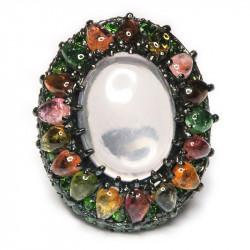 Кольцо с розовым кварцем 1185-er