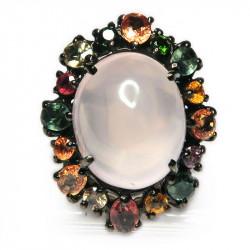 Кольцо с розовым кварцем 1187-er